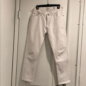 Re/Done Levi's 501 in White